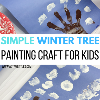 simple winter tree painting for preschool and toddlers