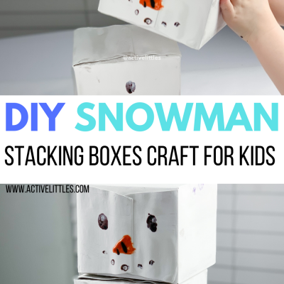 snowman stacking boxes for kids craft