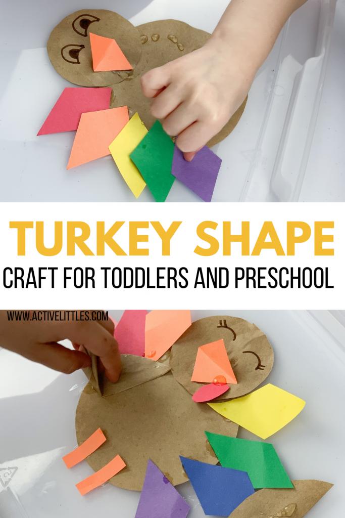 turkey shape activity for kids