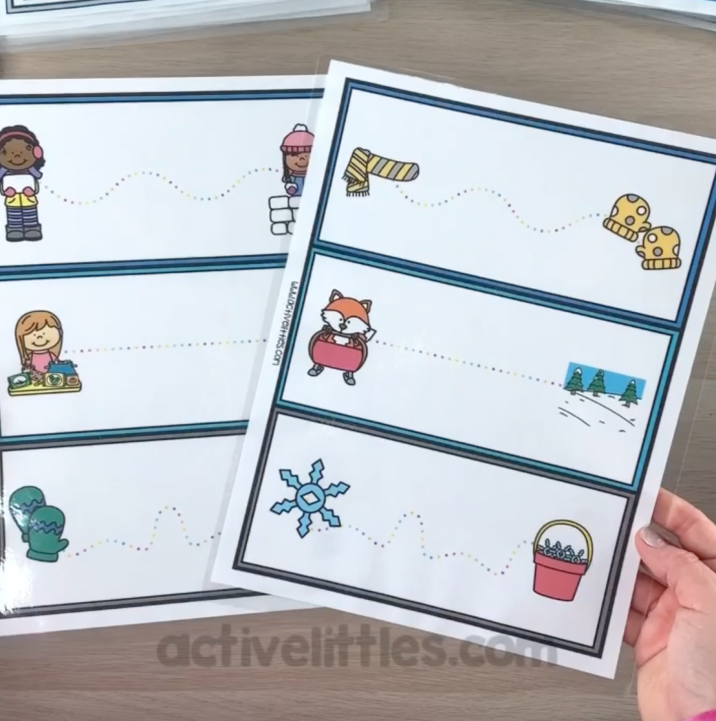 winter busy boxes printable for kids