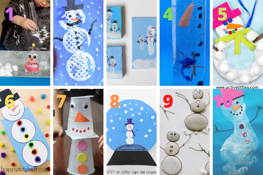 easy snowman crafts for toddlers