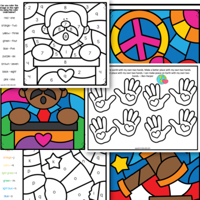 martin luther king free preschool printable