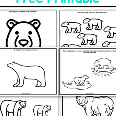 polar bear free preschool printable