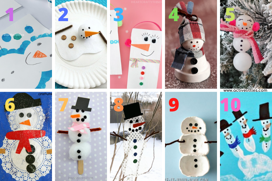 snowman crafts activities for kids