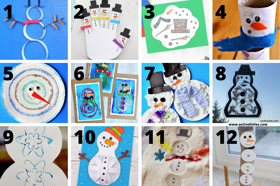 snowman crafts for kindergarteners and for kids