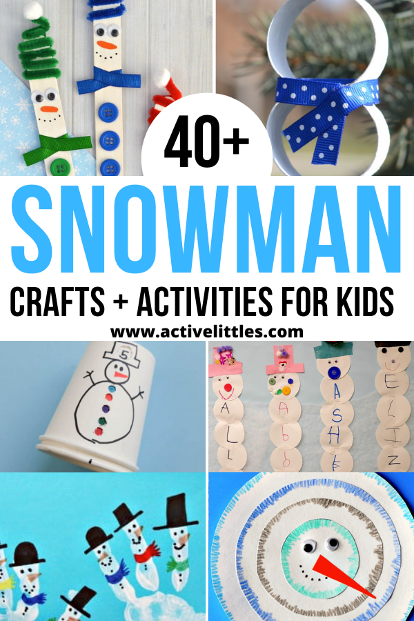 snowman crafts for preschool and for kids