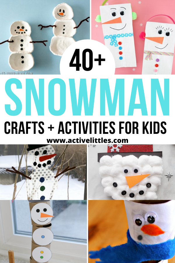 snowman crafts for toddlers and for kids