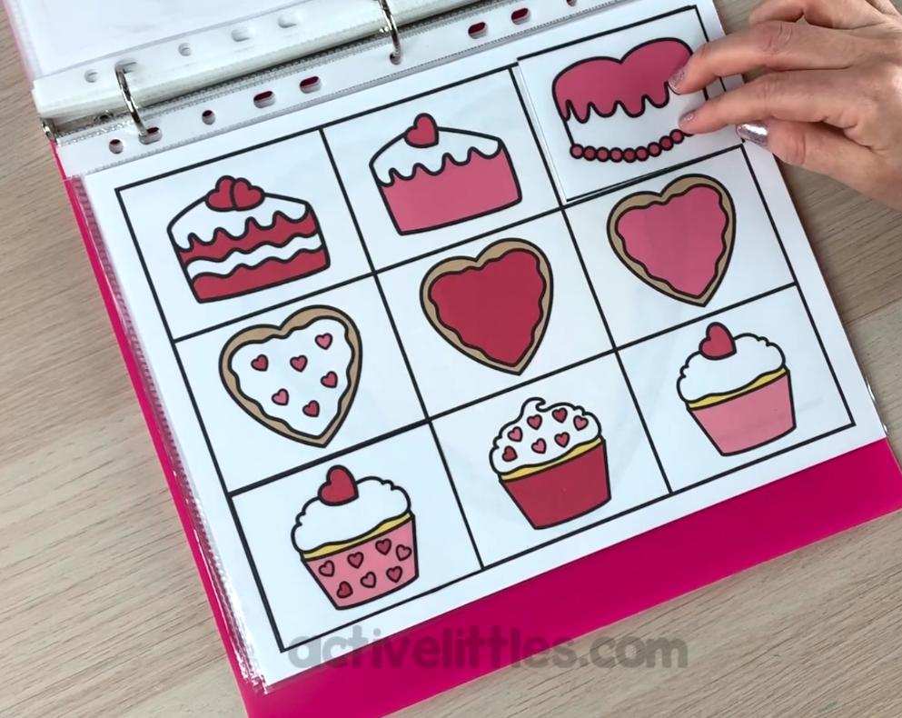 valentines preschool busy book