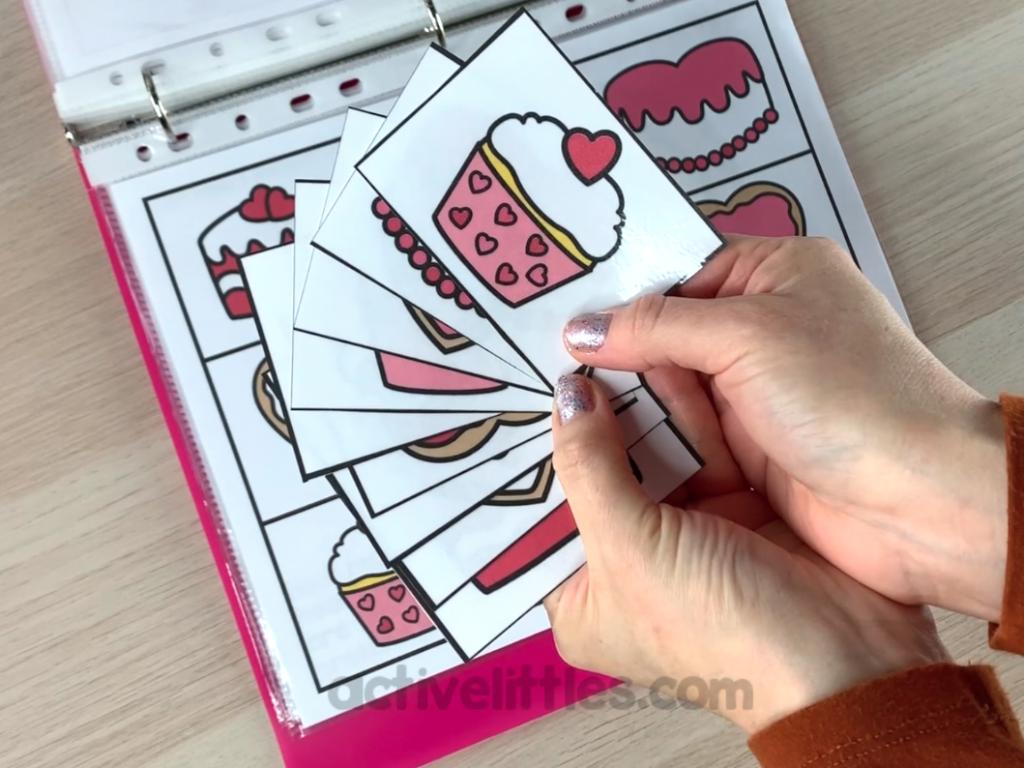 valentine's preschool theme busy book