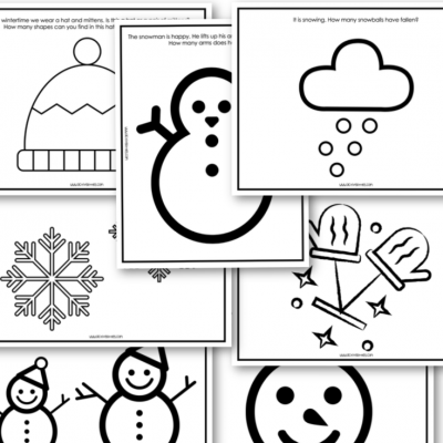 winter free printable toddler preschool