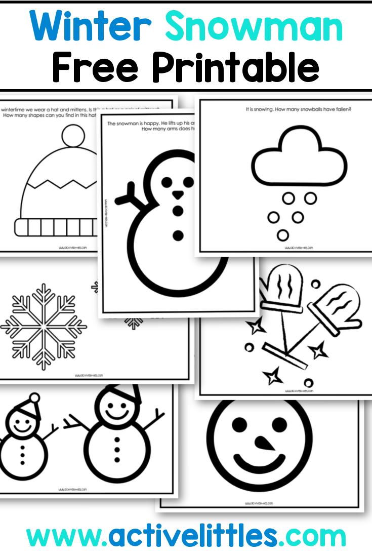 winter free printable toddler preschool