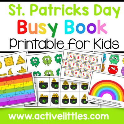 St. Patricks Day Busy Book Printable - Active Littles