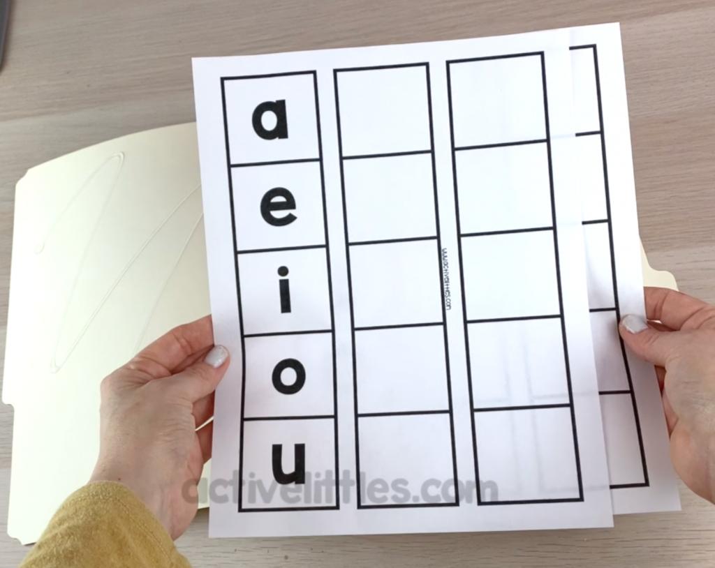 alphabet fild folder busy book