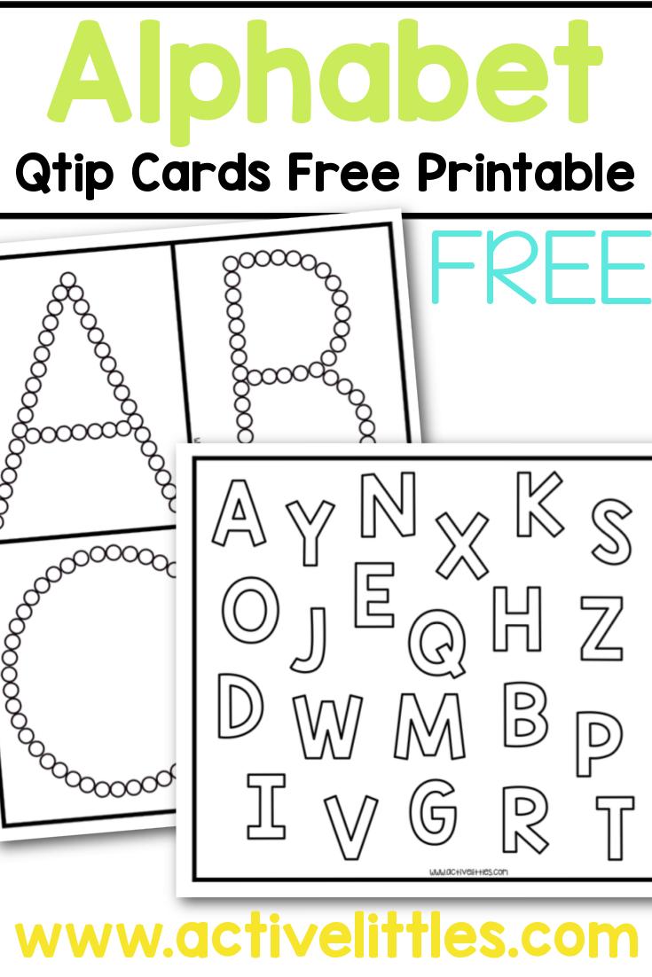 alphabet qtip cards free printable for kids