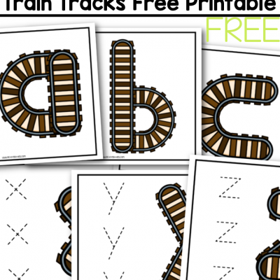 alphabet traintrack cards free printable for kids