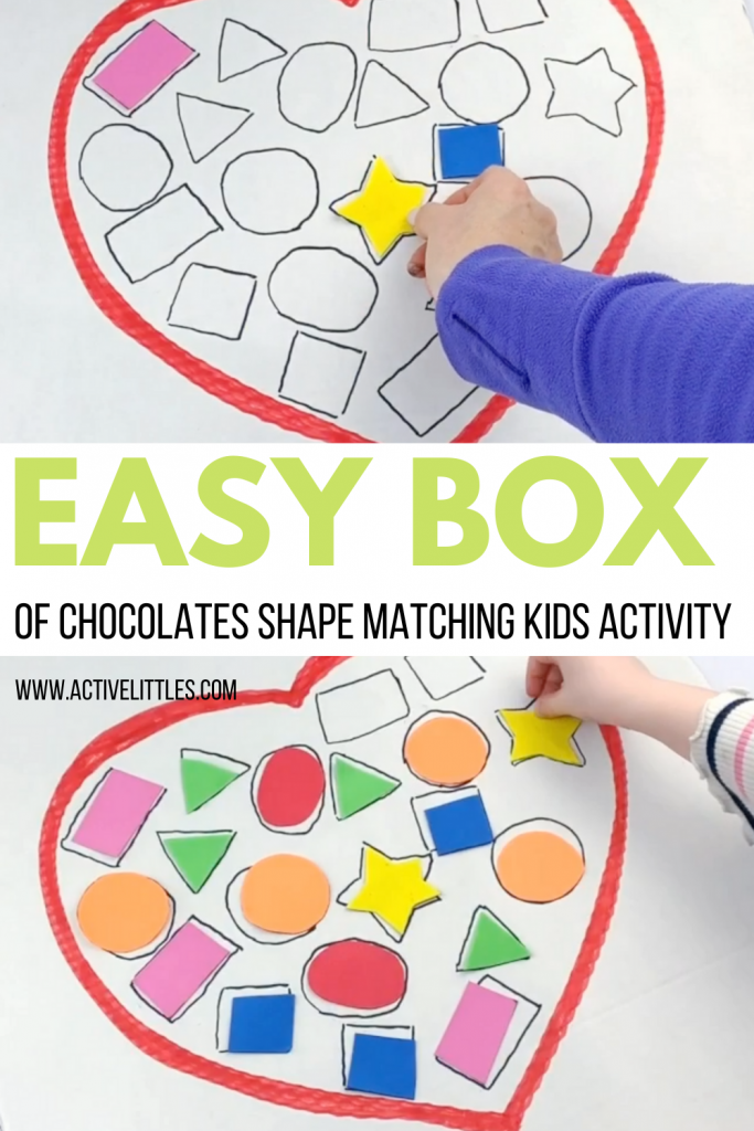 box of chocolates shape matching activity for kids
