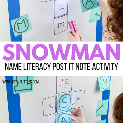 diy snowman name kids activity