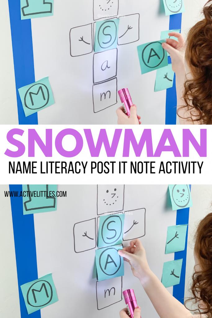diy snowman name kids activity
