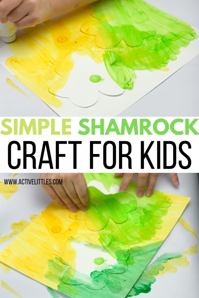 easy shamrock craft for kids