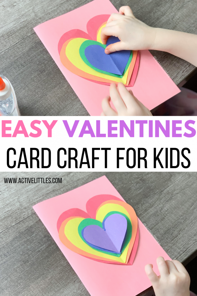 easy valentines day card craft for toddlers and preschool