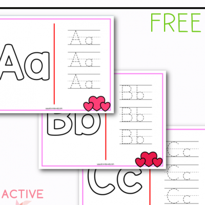 heart alphabet mats free printable