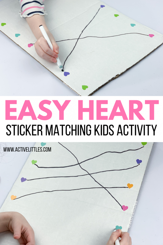 heart sticker matching activity