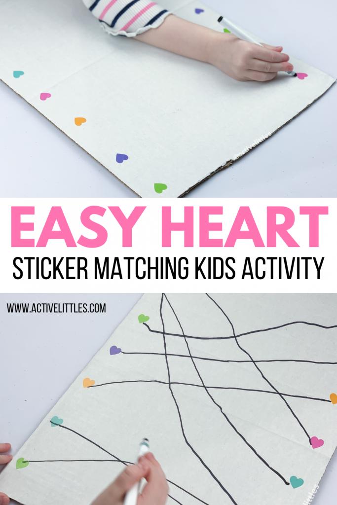 heart sticker matching kids activity
