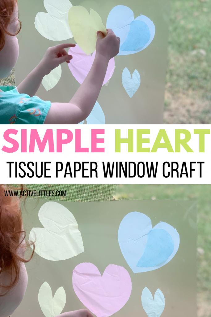 heart window tissue paper craft