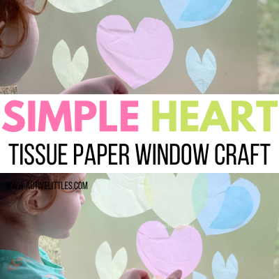 heart window tissue paper crafts for kids