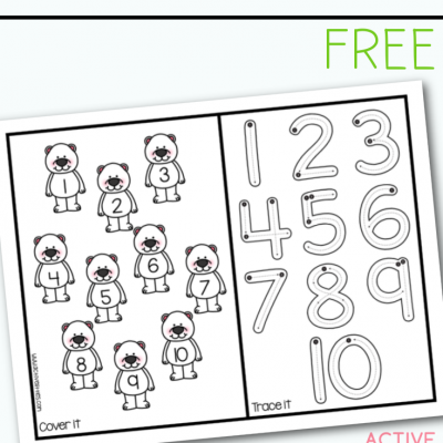 polar bear abc roll cover and trace free printable