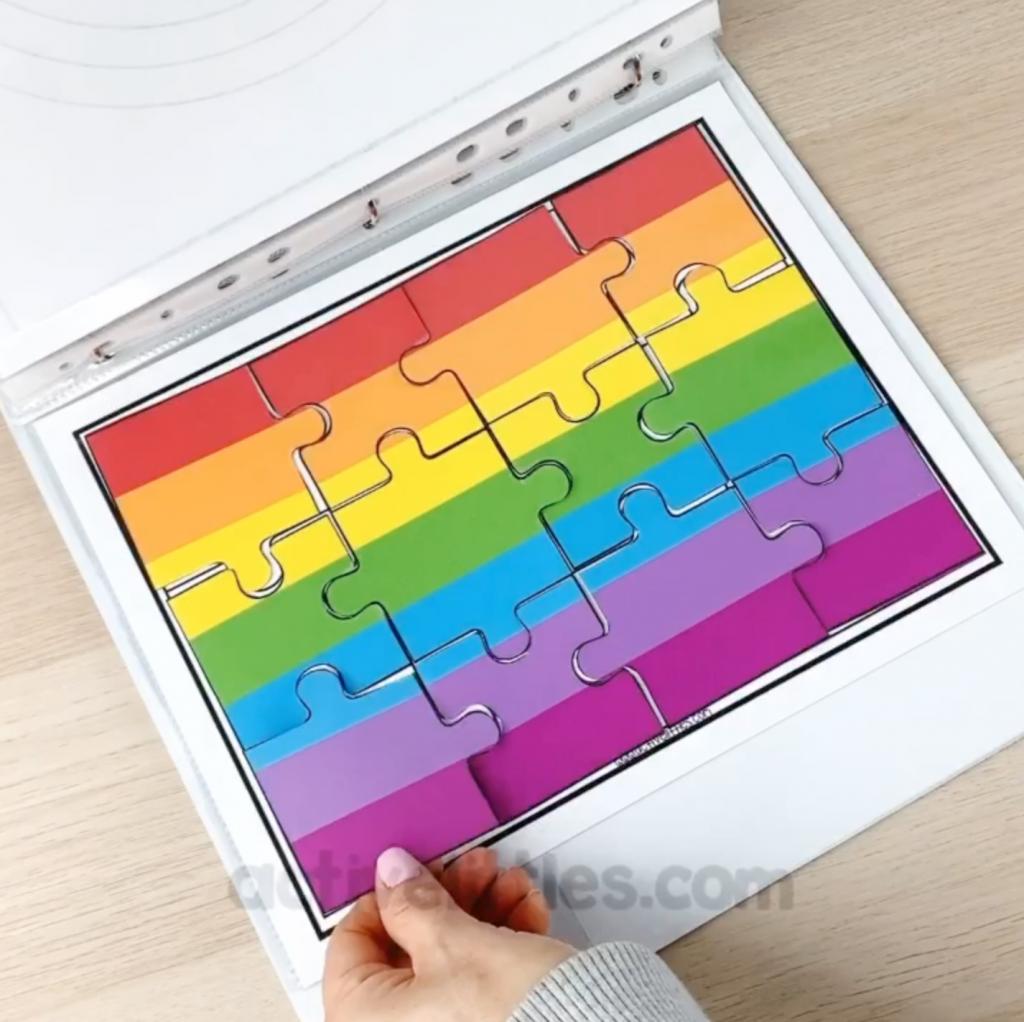 preschool learning folder activities binder