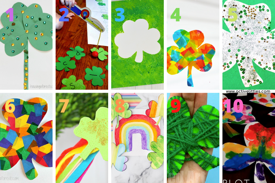shamrock crafts for preschoolers