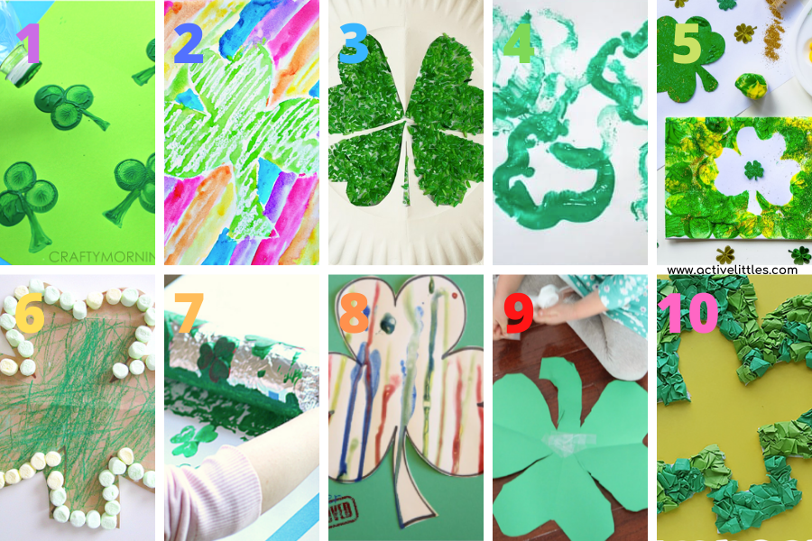 shamrock crafts for toddlers