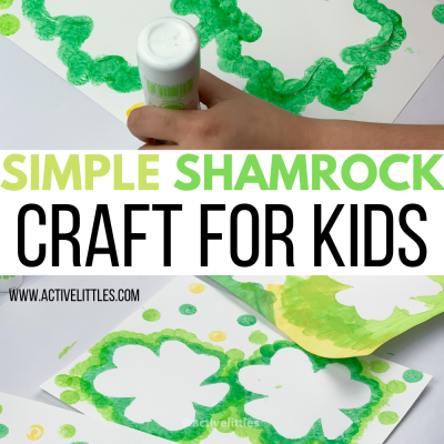 simple and easy shamrock craft for kids