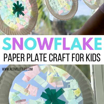 snowflak paper plate craft for kids