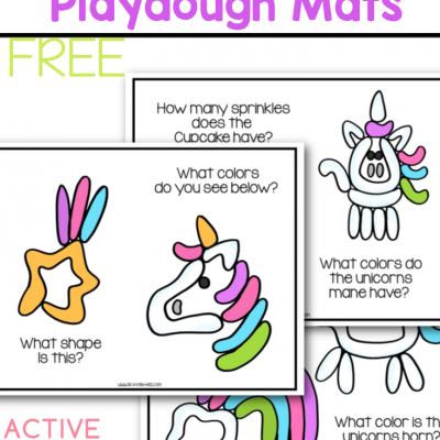 unicorn playdough mats free printable for kids
