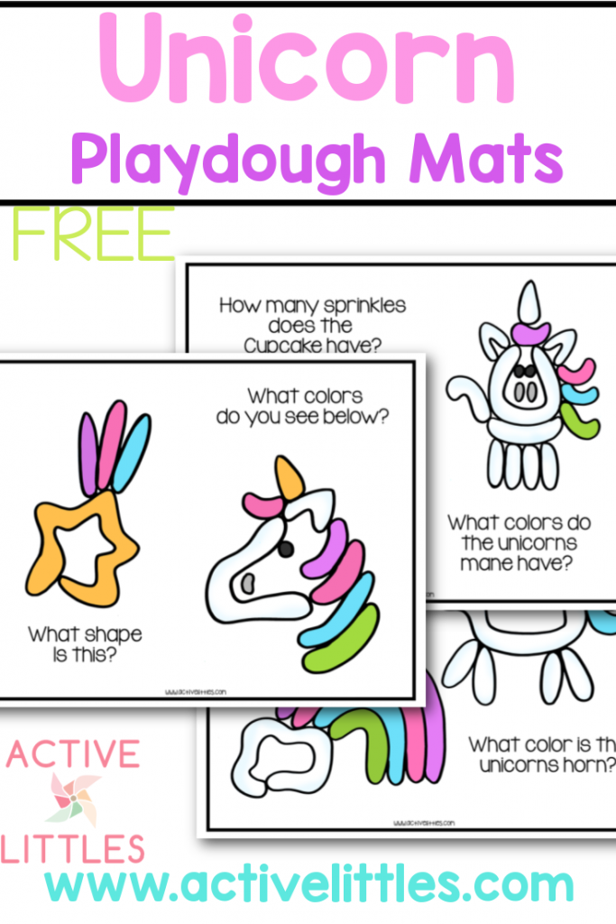 unicorn playdough mats free printable for kids