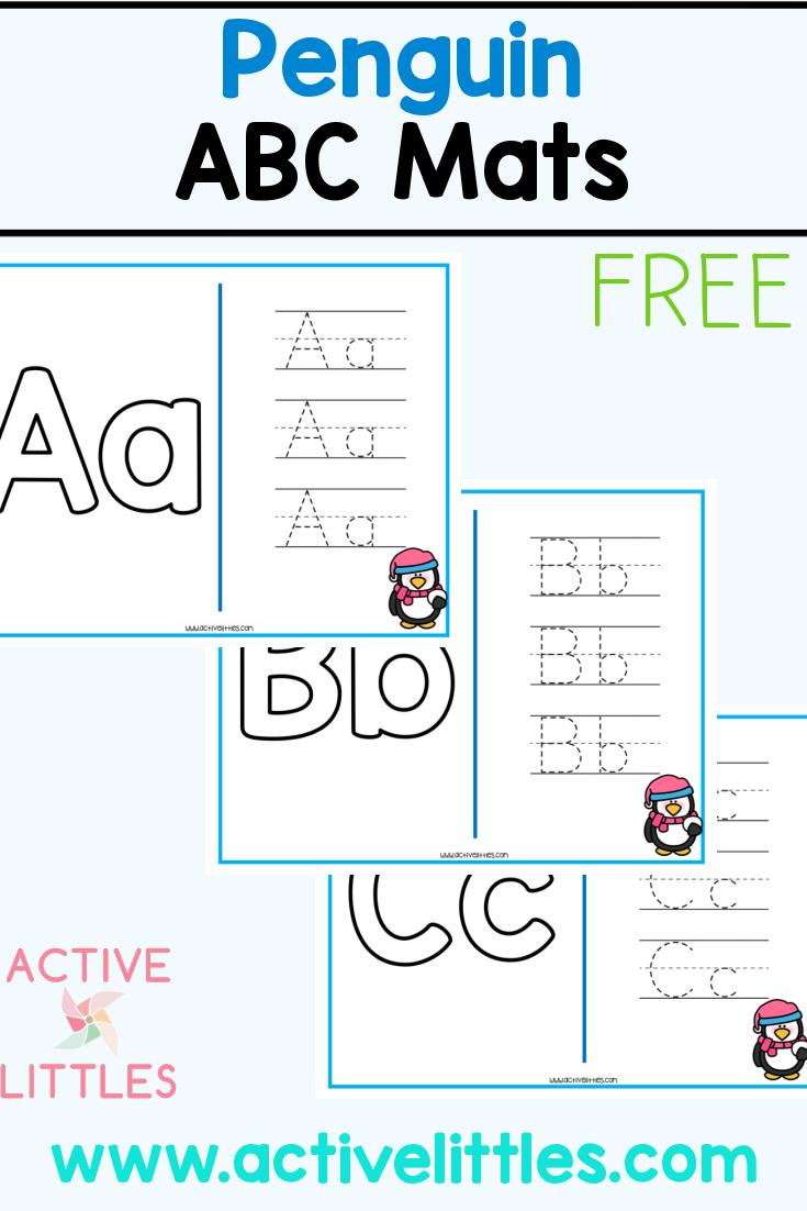 winter alphabet mats free printable
