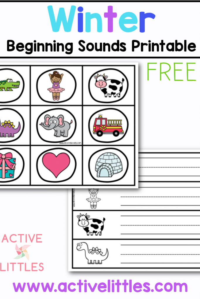 winter beginning sounds free printable for kids
