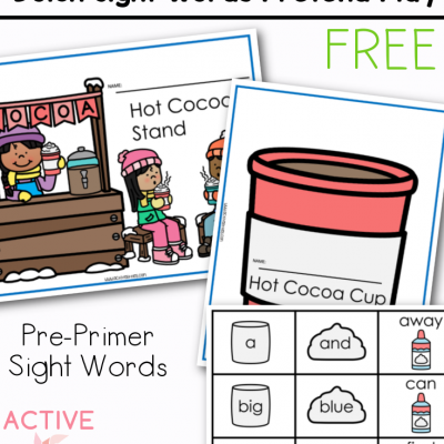 winter pretend play sight words pack
