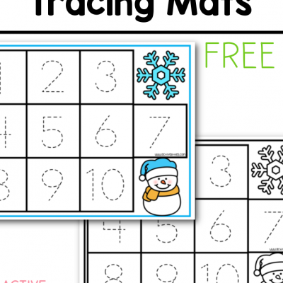 winter tracing mats free printable