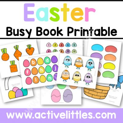 Easter Busy Book Printable - Active Littles copy
