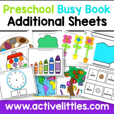 Preschool Busy Book Activity Binder Additonal Sheets Printable - Active Littles copy