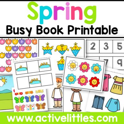 Spring Busy Book Printable - Active Littles