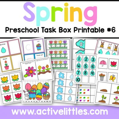 Spring printable book - Active Littles