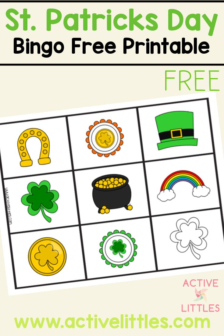 St. Patricks Day Bingo Free Printable for Kids