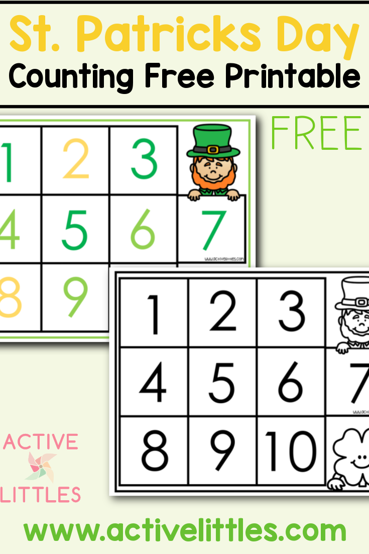 St. Patricks Day Counting Free Printable For Kids