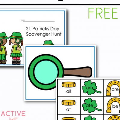 St. Patricks Day Primer Sight Words Free Printable for Kids