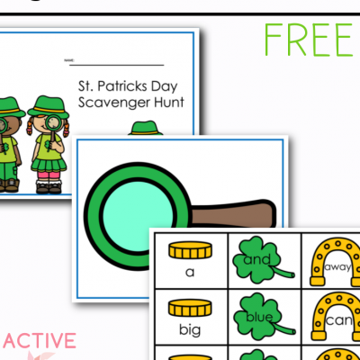 St. Patricks Day Sight Words Pre Primer Free Printable for Kids
