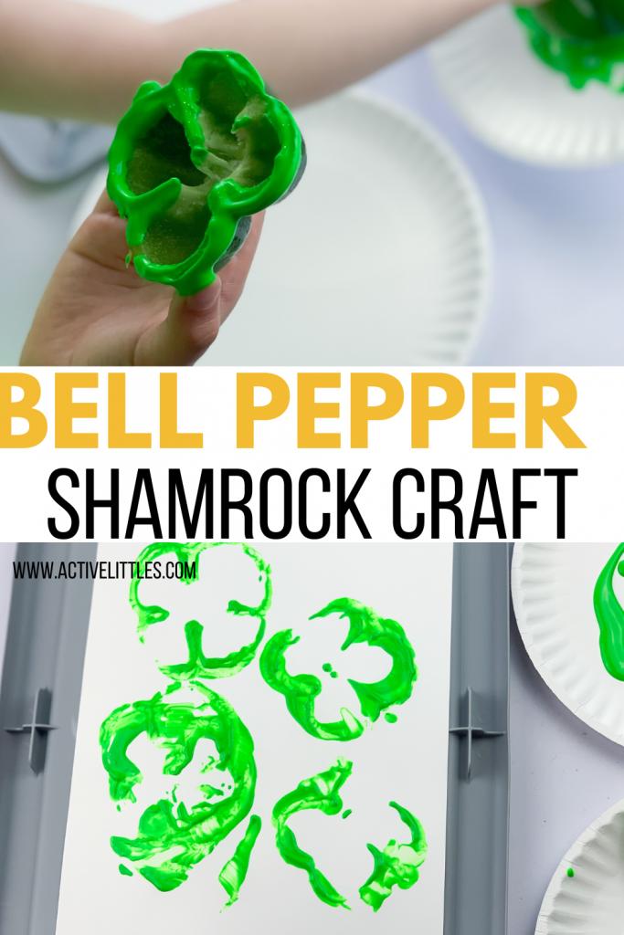 bell pepper shamrock craft for kids